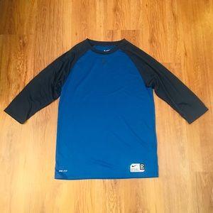 Nike Swingman 3/4 sleeve Men's shirt size Mesium